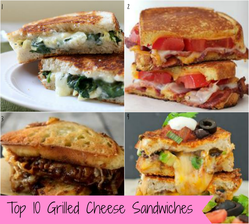 Top 10 Grilled Cheese Sandwiches Recipe Round Up ...