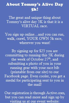 Tommy's Alive Day 5k Run