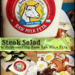 Steak Salad with Redwood Hill Farm Raw Milk Feta #CertifiedHumane