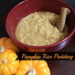 Pumpkin Rice Pudding a Recipe