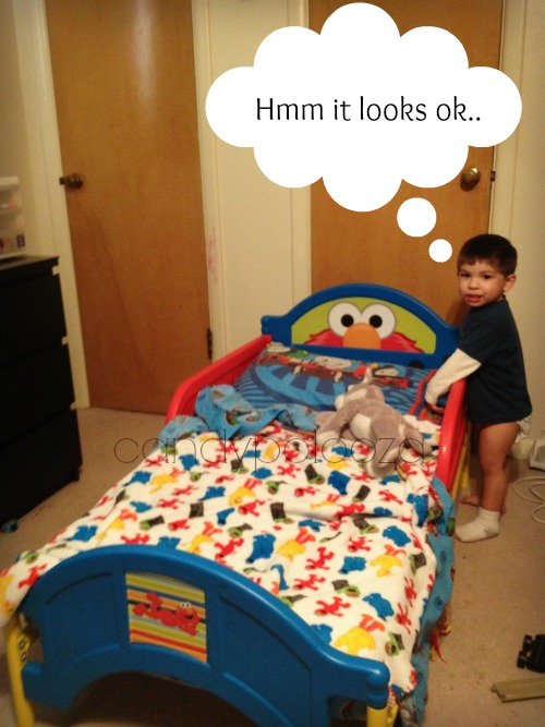 check out his bed