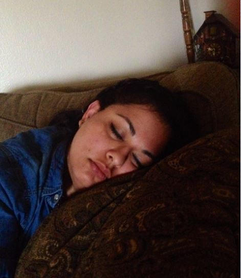 Sleeping mommy