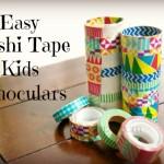 Easy Washi Tape Kids Binoculars