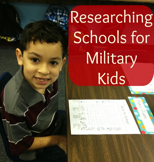 reasrching schools for military kids