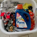Teaching a Tween to Stop Sorting Laundry with Purex No Sort #LaundrySimplified #cbias