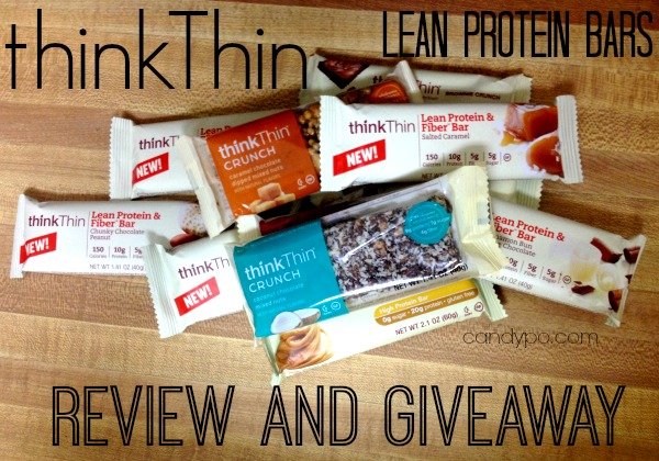 thinkthin lean protein bars review giveaway 1