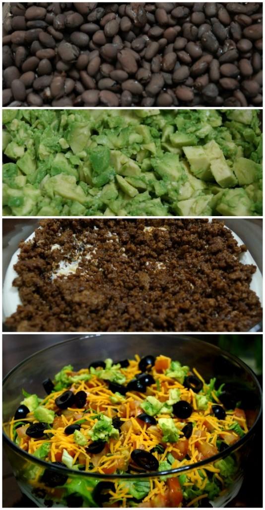 Taco Salad collage