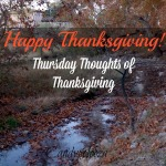 Thursday Thoughts of Thanksgiving