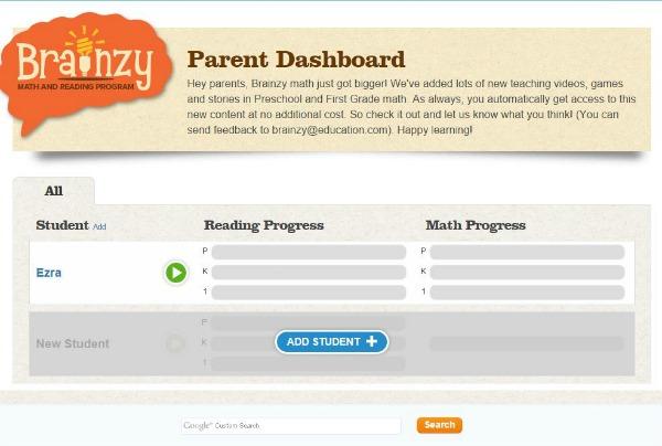 Brainzy start up page