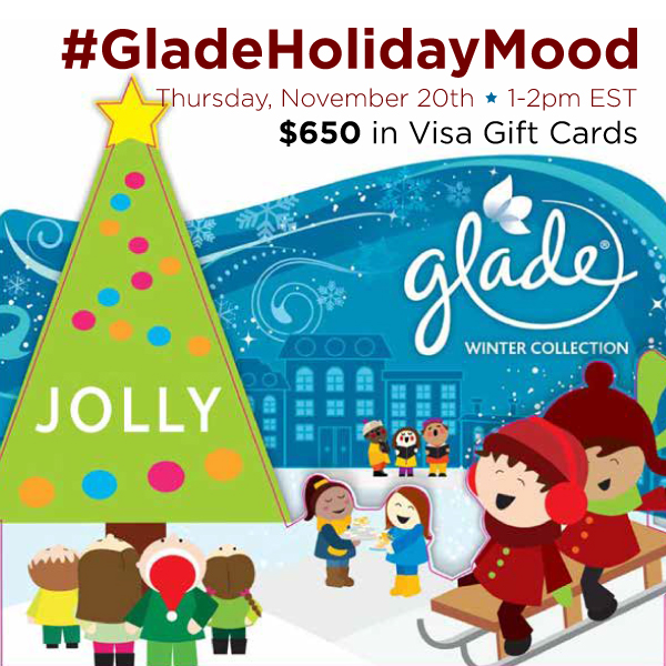 #GladeHolidayMood-Twitter-Party-11-20-1pmEST
