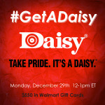 RSVP for the #GetADaisy Twitter Party 12/29 #ad