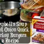 Campbell's Soup Sweet Onion Quick Turkey Burger a Recipe