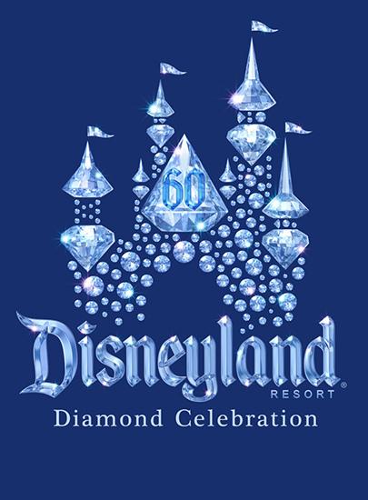 Disneyland Diamond Anniversary Celebration logo. Celebration begins Spring 2015. ©2014 Disney Enterprises, Inc. All Rights Reserved. For editorial news use only.