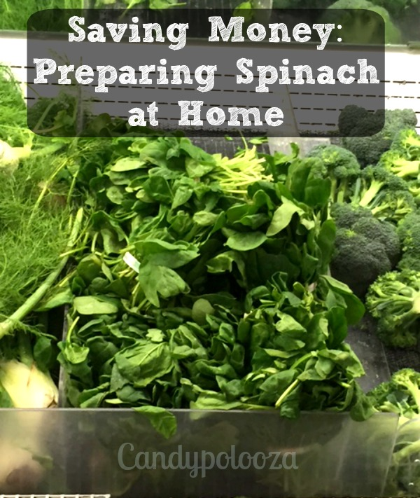Preparing Spinach at home