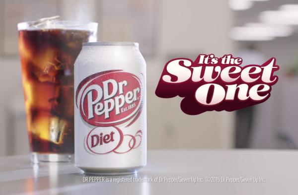 Screen shot from Diet Dr Pepper video.