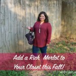 Add a Rich Merlot to Your Closet This Fall #MMColorConfidence #ad