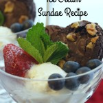 Brownie Berry Ice Cream Sundae Recipe