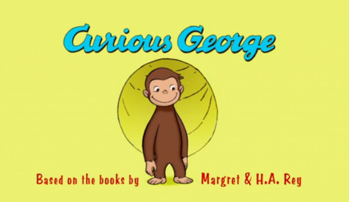 Screenshot taken from Curious George video