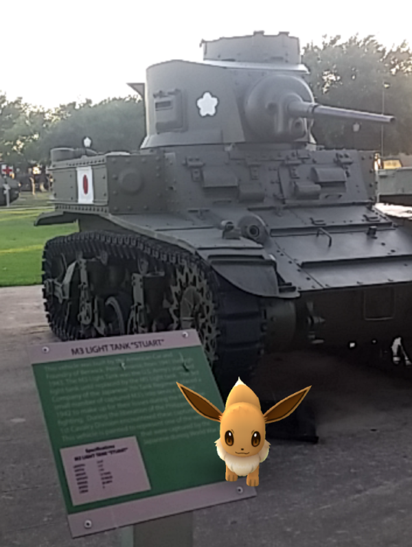 The AR feature of this game is super adorable at times. Who knew fox type creatures liked to drive tanks?