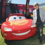 Lighting McQueen was at the Daytona 500 with Owen Wilson! #Cars3