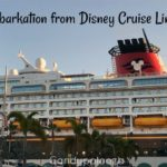 Debarkation from Disney Cruise Line