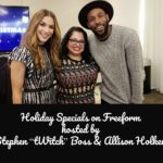 "Holiday Specials on Freeform Hosted by Stephen ""tWitch"" Boss and Allison Holker #25DaysofChristmasEvent #PopUpSanta #DisneyWeddings"