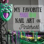 My Favorite Mardi Gras Nail Art on Pinterest #nailart