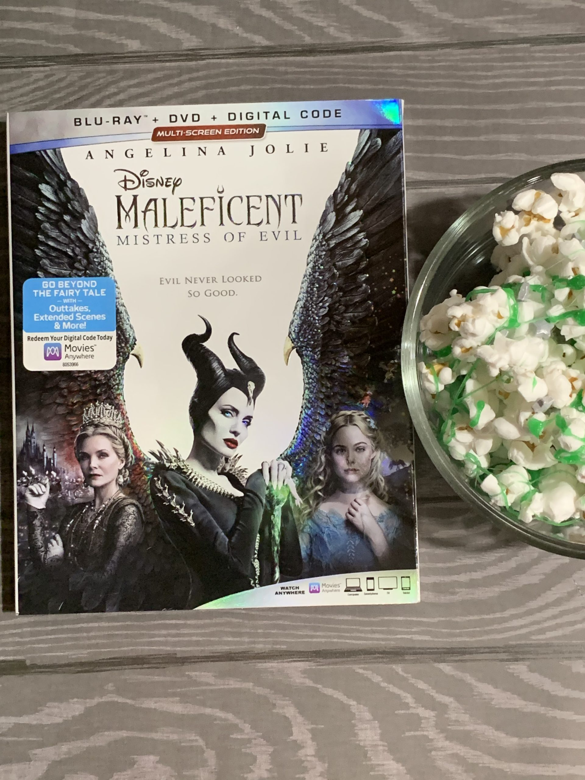 popcorn recipe, maleficent popcorn