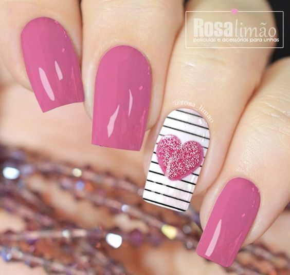 mauve, pink, hearts and stripes