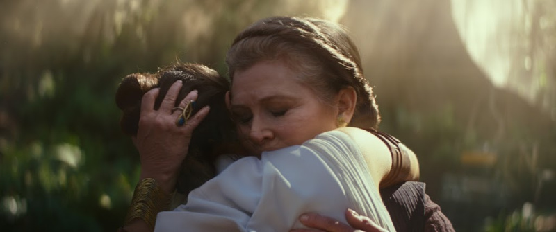 carrie fisher rise of skywalker