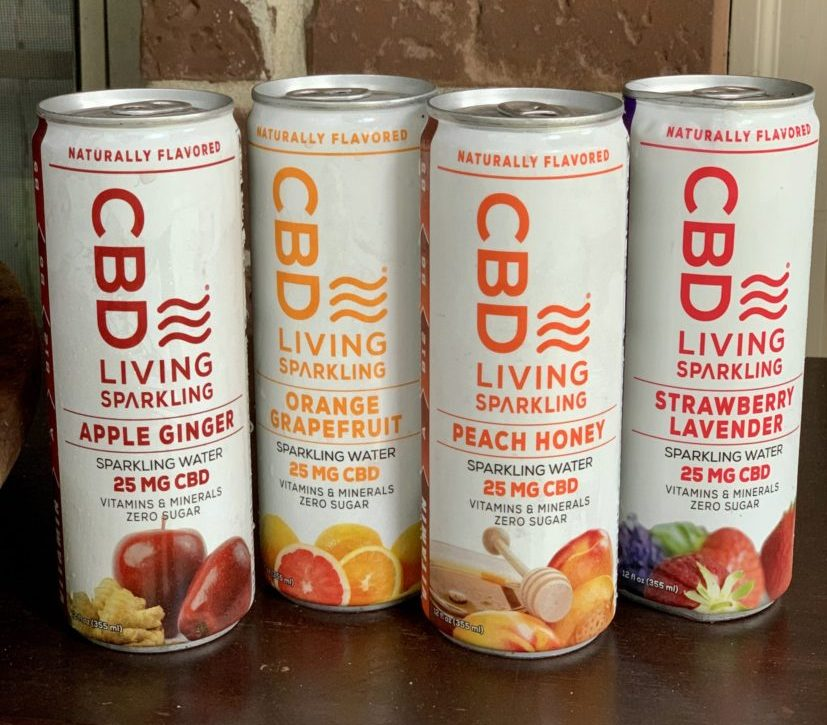 CBD Living sparkling water products on Candypo.com