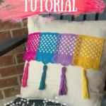 no sew pillow tutorial on candypo.com 5