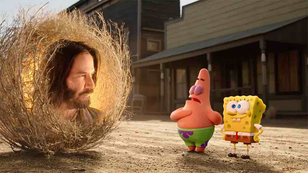 Sponge-on-The-Run-review Keanu Reeves as the sage on candypo.com