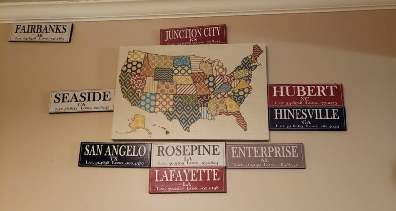 Laura's state wall art on candypo.com